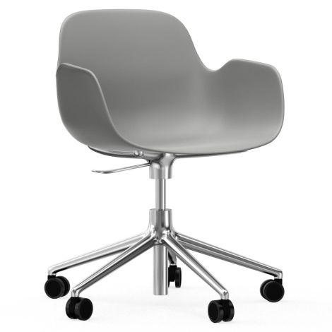Normann Copenhagen Form Bürostuhl/Drehstuhl mit Rollen Swivel Grey