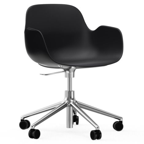 Normann Copenhagen Form Bürostuhl/Drehstuhl mit Rollen Swivel Black