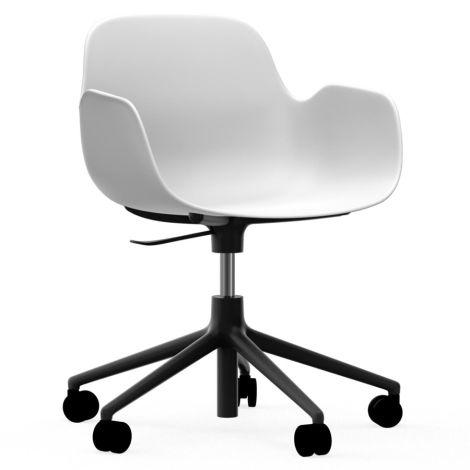 Normann Copenhagen Form Bürostuhl/Drehstuhl mit Rollen Swivel White/Black