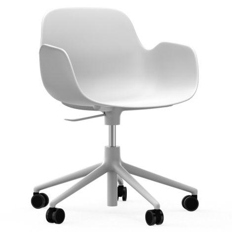 Normann Copenhagen Form Bürostuhl/Drehstuhl mit Rollen Swivel White/White