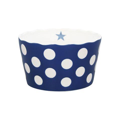 Krasilnikoff Schüssel Happy Bowl Dots Dark Blue M
