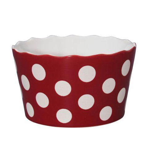 Krasilnikoff Schüssel Happy Bowl Dots Red M
