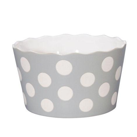 Krasilnikoff Schüssel Happy Bowl Dots Light Grey M