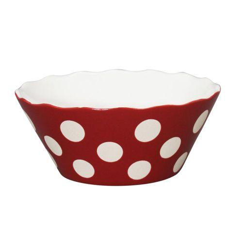 Krasilnikoff Schüssel Happy Bowl Dots Red S •