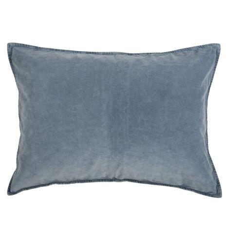 IB LAURSEN Kissenbezug Velour Colonial Blue 52 x 72