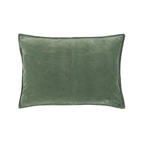 IB LAURSEN Kissenbezug Velour Dusty Chalk Green 72 x 52