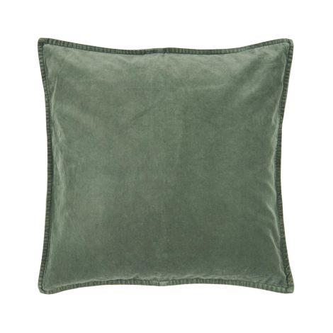IB LAURSEN Kissenbezug Velour Dusty Chalk Green 52 x 52