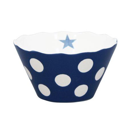 Krasilnikoff Schüssel Happy Bowl Dots Dark Blue S