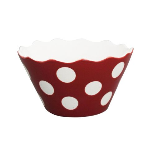 Krasilnikoff Schüssel Happy Bowl Dots Red S