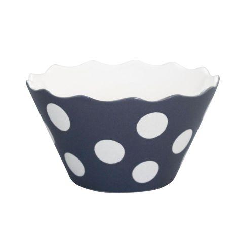 Krasilnikoff Schüssel Happy Bowl Dots Charcoal S