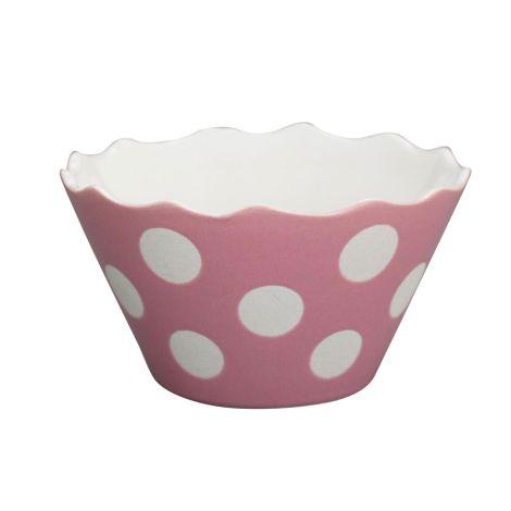Krasilnikoff Schüssel Happy Bowl Dots Pink S