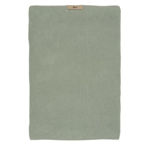 IB LAURSEN Handtuch Mynte Staubgrün gestrickt
