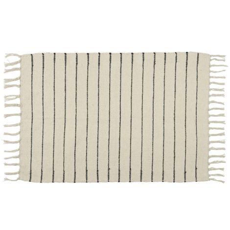IB LAURSEN Teppichmatte mit schwarzen Streifen