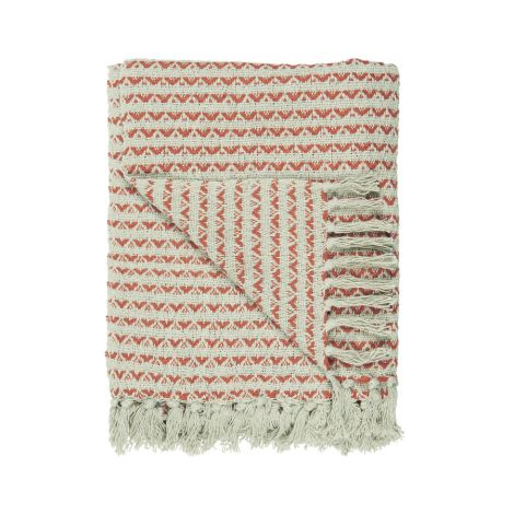 IB LAURSEN Kuscheldecke Plaid Creme/Sunset Muster