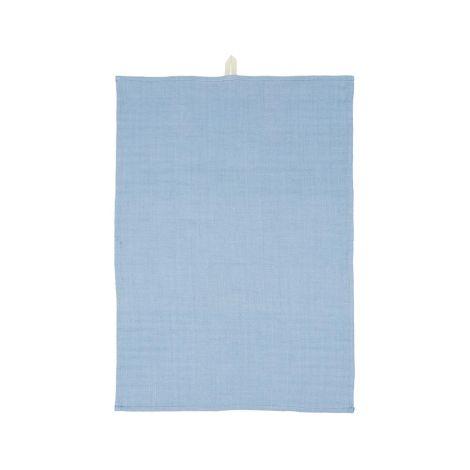 IB LAURSEN Geschirrtuch Blau locker gewebt