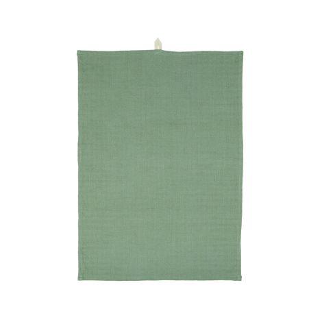 IB LAURSEN Geschirrtuch Grün locker gewebt
