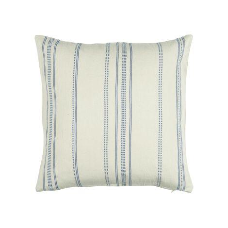 IB LAURSEN Kissenbezug Natur mit blaugewebtem Muster 50x50 cm