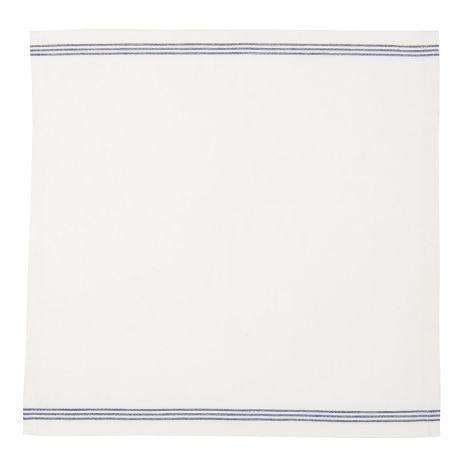 IB LAURSEN Stoffserviette Weiß mit blauen Streifen