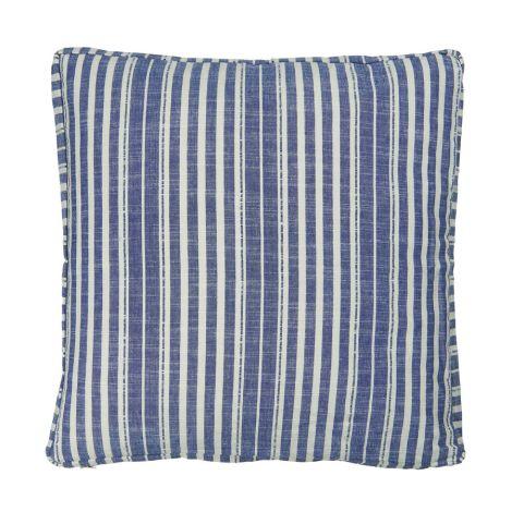 IB LAURSEN Kissenbezug Blau Gestreift 45x45