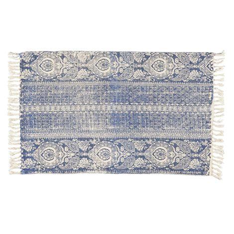 IB LAURSEN Teppich mit blauem Muster •