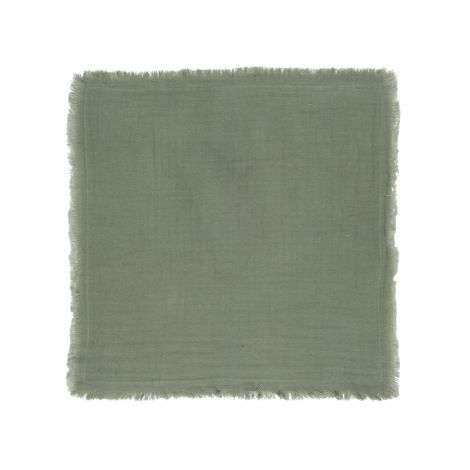 IB LAURSEN Stoffserviette Doppelt Gewebt Dusty Chalk Green