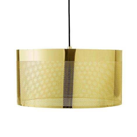 Bloomingville Hängelampe Gold 40cm •