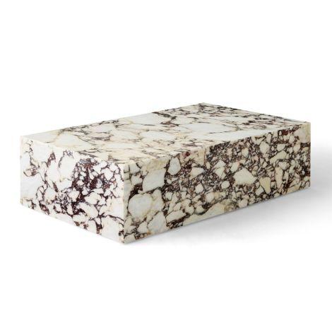 Menu Plinth Tisch Low Rose Calacatta Viola Marble