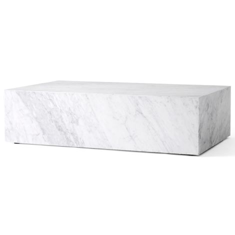 Menu Plinth Tisch Low White Carrara Marble