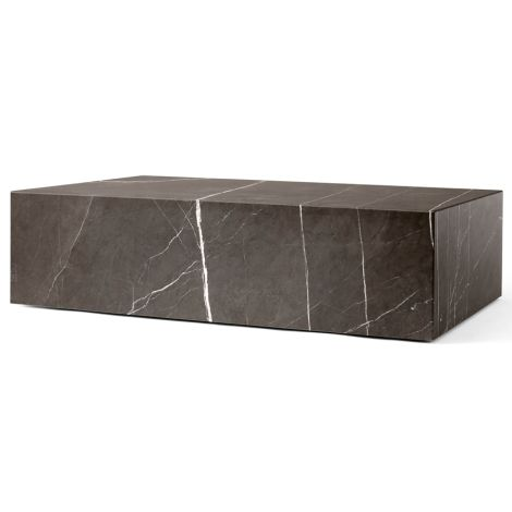 Menu Plinth Tisch Low Brown Grey Kendzo Marble