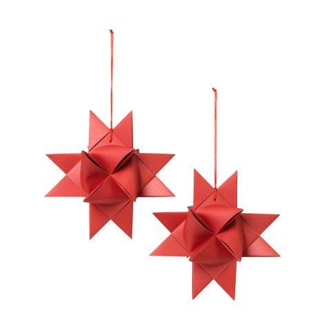 Broste Copenhagen Deko-Stern Pompeian Red 2er-Set