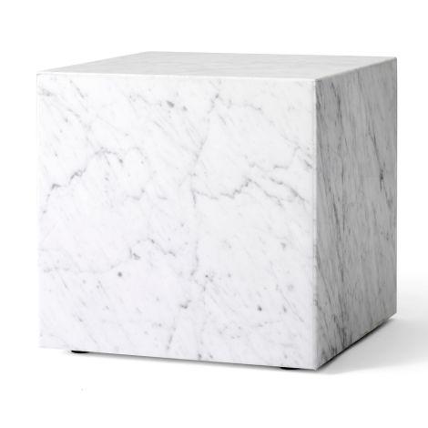 Menu Plinth Tisch Cubic White Carrara Marble