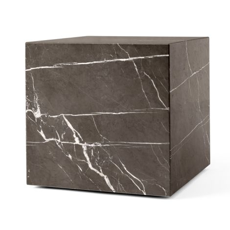 Menu Plinth Tisch Cubic Brown Grey Kendzo Marble