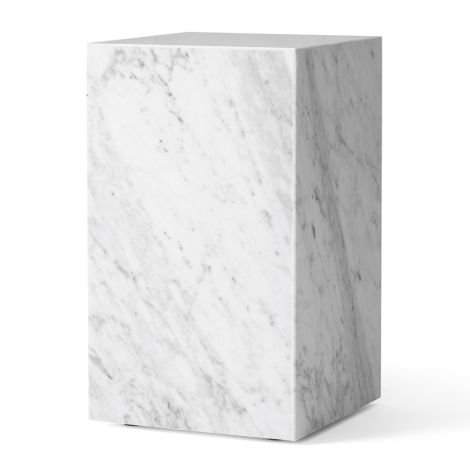 Menu Plinth Tisch Tall White Carrara Marble