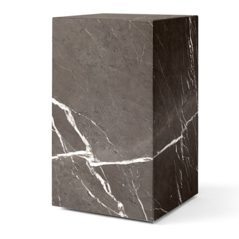 Menu Plinth Tisch Tall Brown Grey Kendzo Marble