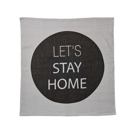 Bloomingville Teppich Let's Stay Home Schwarz/Grau