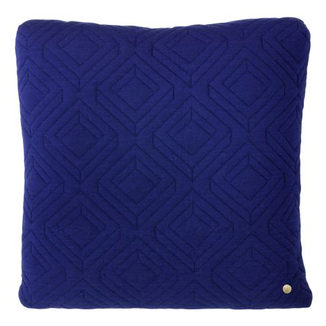 ferm LIVING gequiltetes Kissen Dark Blue 45 x 45
