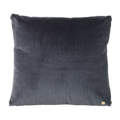 ferm LIVING Kissen Corduroy Dark Grey 45 x 45 cm