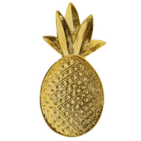 Bloomingville Tablett Ananas Shiny Gold
