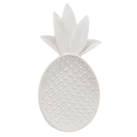 Bloomingville Tablett Shiny White