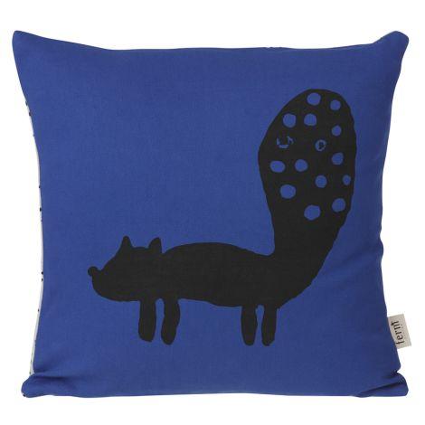 ferm LIVING Fox Kissen Blue •
