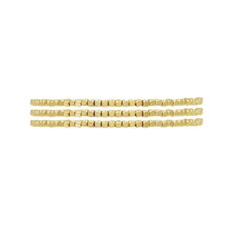 Dansk Smykkekunst Armband Alina Elastisch Vergoldet 3er-Set
