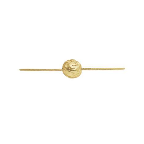 Dansk Smykkekunst Armband Daisy Flower Bud Vergoldet •