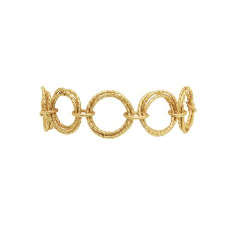 Dansk Smykkekunst Armband Ally Vergoldet •