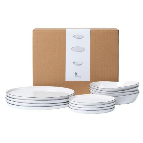 Broste Copenhagen Geschirr-Set Dinner Salt 12-teilig