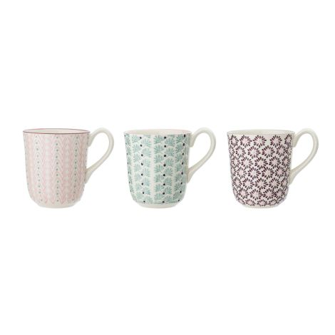 Bloomingville Tasse Maya Multi-Color 3er-Set
