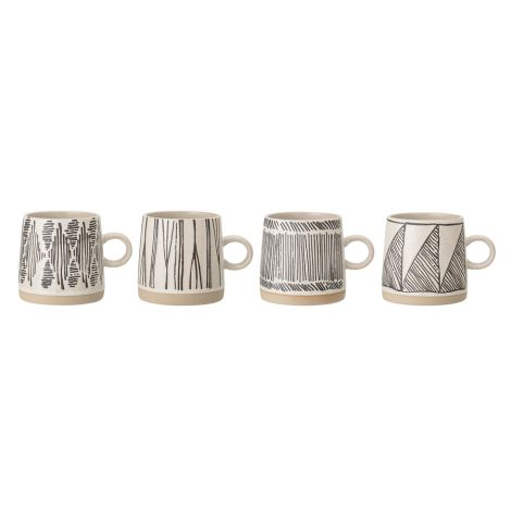 Bloomingville Tasse Eliana Black 4er-Set