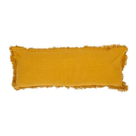 Bloomingville Kissen mit Fransen Yellow