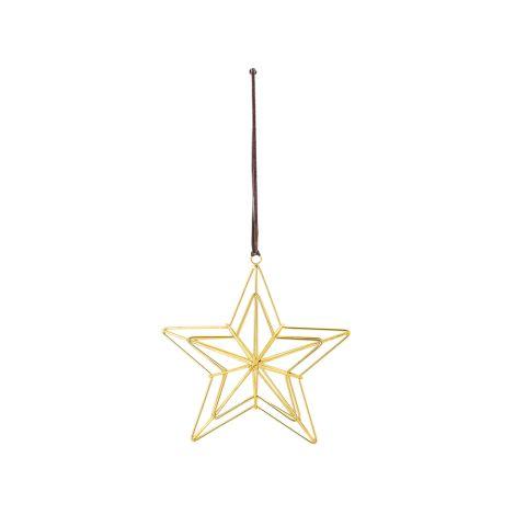 Bloomingville Großer Deko-Anhänger Stern Holiday Gold