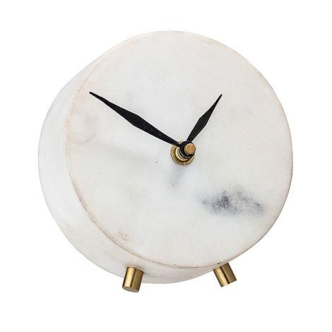 Bloomingville Uhr White Marble