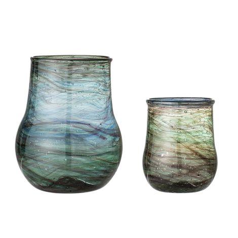 Bloomingville Vase Multi-Color Glas 2er-Set